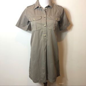 Madewell Beige Shirt dress Xs